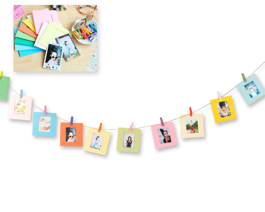 10 Pcs Paper Photo Frame Set For Fujifilm Instax Polaroid mini 8, mini 7S, mini 25, mini 50S, mini 9