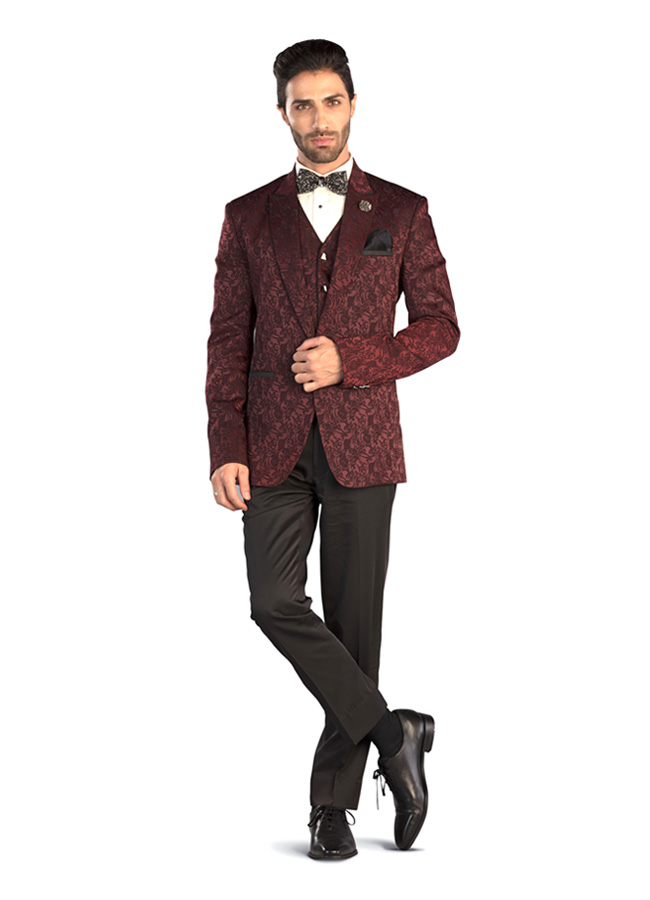 Jacquard 3 piece suit