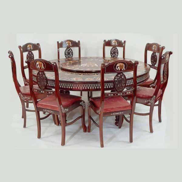 Round Revolving Dining Table Stocktonandco