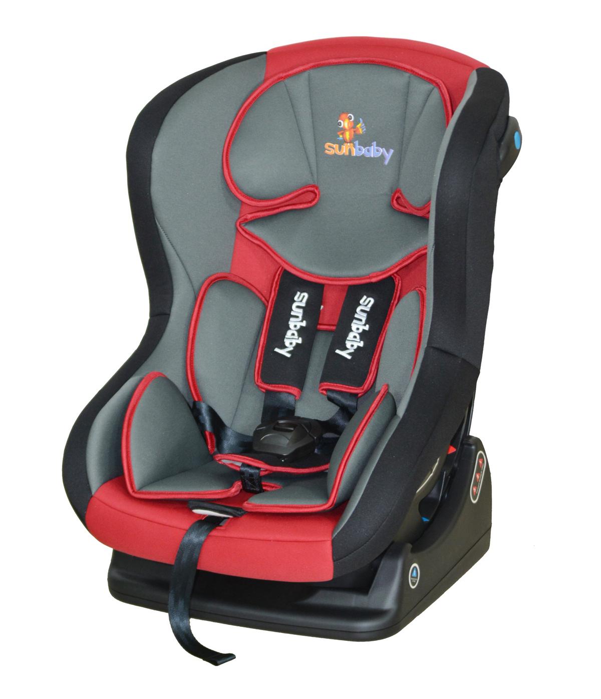 sunbaby car seat - baby car seat outdoor products sunbaby sunbaby sunbaby recliningcarseatred with grey