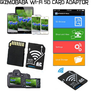 GB143-Gizmobaba Wi-Fi SD Card Adapter Gadget. Conv