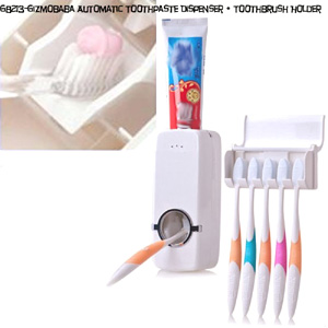 Toothpaste Dispenser | Toothbrush Holder | Home Ga