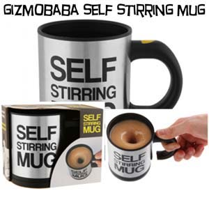 GB90-Gizmobaba Self Stirring Mug Gadget. Make Capp