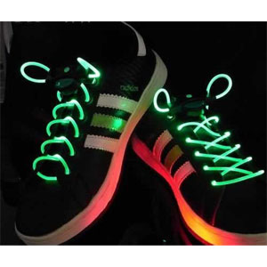 GB70-LED NEON Laser Lights Flashing Shoelace Shoe