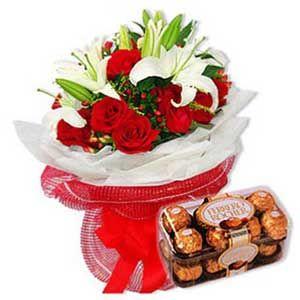 Exotic Flowers 16 Pcs Ferrero Chocolates