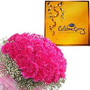 12 Pink Carnations n Cadbury