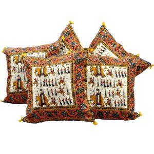 Sanganeri Handblock Printed Cushion Cover Set