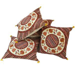 Jaipuri Floral Print Cotton Cushion Cover Set