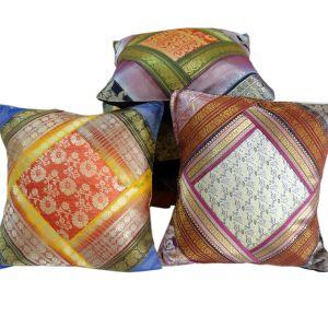Ethnic Designer Brocade Work Cushion Cover Set