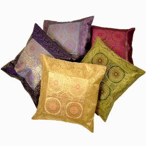 Ethnic Banarasi Brocade Cushion Cover 5Pc. Set