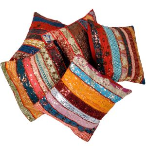 Ethnic Hand Embroidered Cushion Cover 5Pc. Set