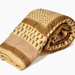 Jaipuri Block Print Cotton Double Bed Quilt