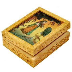 Precious Gemstone Painting Jewelry Box Gift