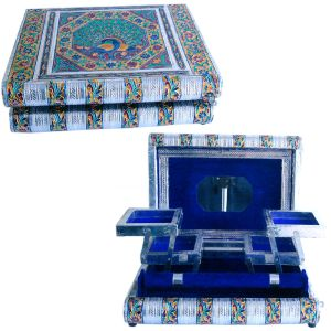 Metal Colorful Meenakari Work Jewellery Box