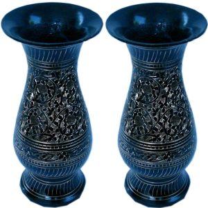 Golden Meenakari Work Flower Vase Pair Gift