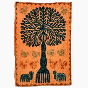 Elegant Handcrafted Cloth Tree Wall Hanging