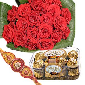 Rakhee Flower n Tasty Chocolate Combo