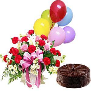 Cake n Flower Basket