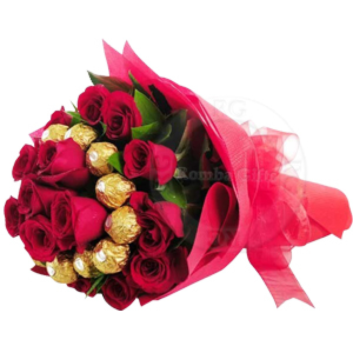 Send flowers to itarsi onlinebirthday gifts bouquet delivery in ferrero rocher chocolate bouquet with red roses izmirmasajfo