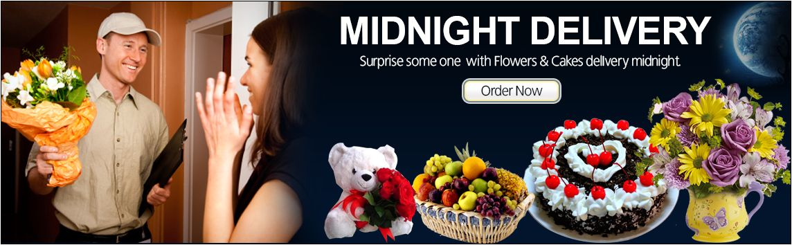 Midnight Cake And Flower Delivery In India For Birthday Anniversary