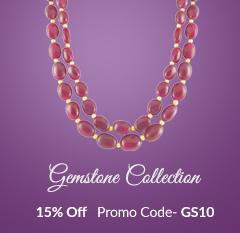 Buy Gemstone Necklaces with 15% Off