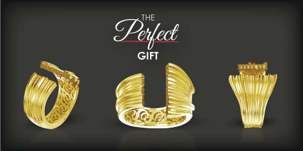 Personalized 3D Name Ring Jewelry