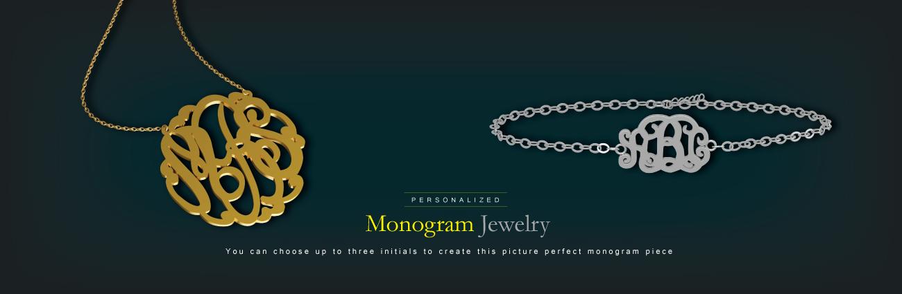 Personalised Monogram Jewelry