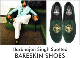Harbhajan Singh Spotted with Bareskin Shoes