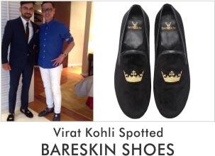 Virat Kohli Spotted with Bareskin Shoes