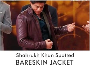 Shah Rukh Khan Spotted with Bareskin Leather Jacket