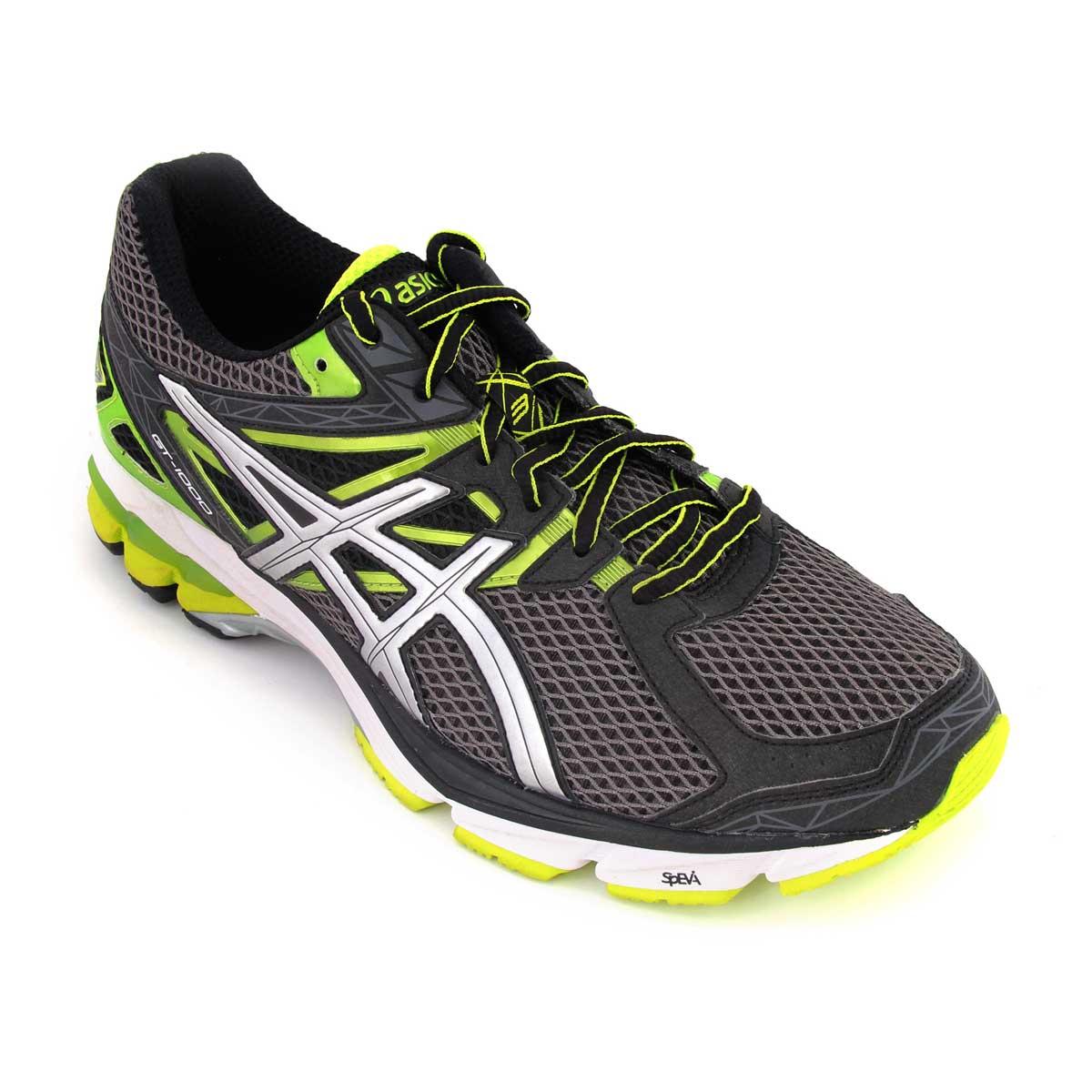 Running Shoes, Running, Buy, Asics, Asics GT-1000 3 Running Shoes  (Carbon/Lighting/Green)