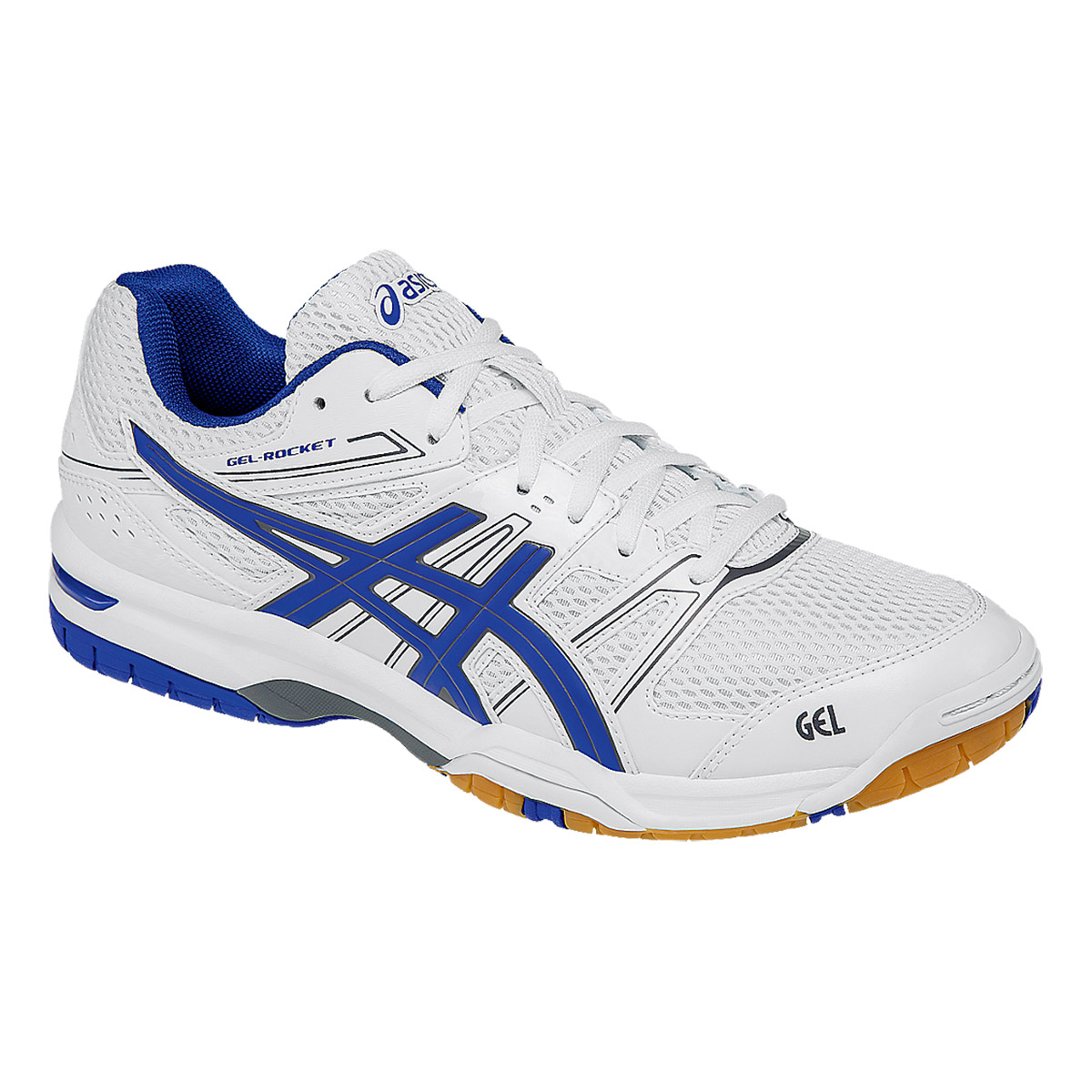 Squash Shoes, Squash, Sports, Buy, Asics, Asics Gel-Rocket 7 Squash Shoes  (White/Blue/Titanium)