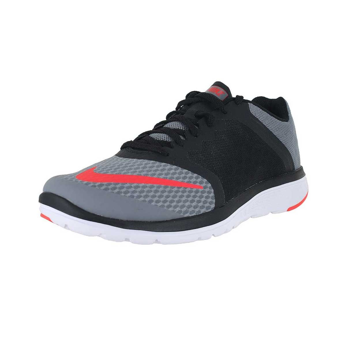 Running Shoes, Running, Buy, Nike, Nike FS Lite 3 Running Shoes  (Black/Grey/Red)