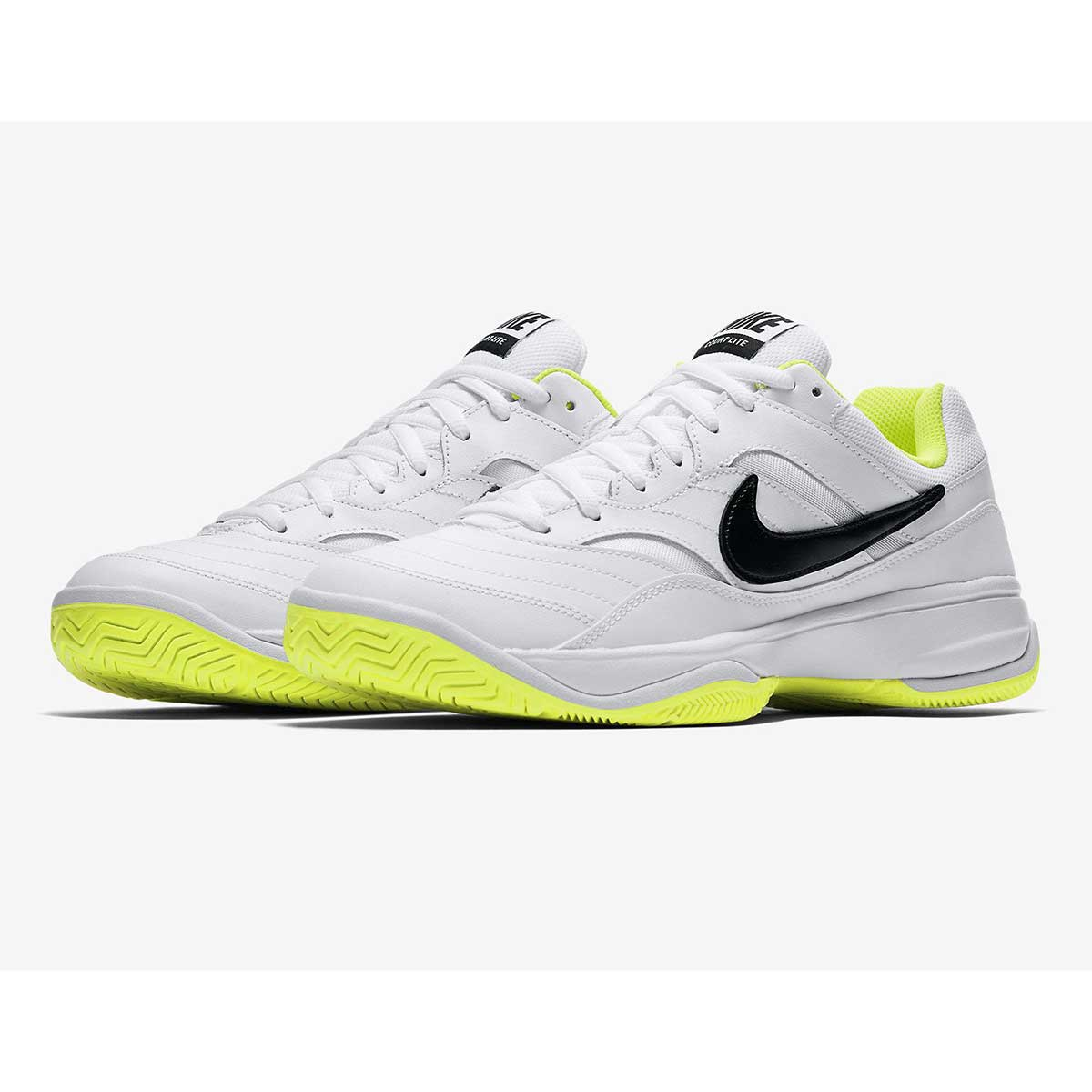 Tennis Shoes, Tennis, Sports, Buy, Nike, Nike Court Lite Tennis Shoes  (White/Black/Volt)