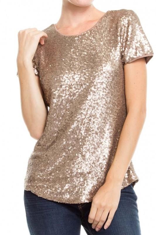 |tops|sequin|gold