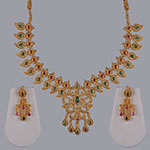 Polki Necklace Sets,Mangatrai,13.10ct. Polki Necklace Set in 22kt. Gold