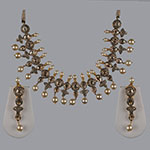 Polki Necklace Sets,Mangatrai,8.73ct.- 4.98ct. Polki Necklace Set in 18kt. Gold